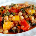 Mediterranean veg with chickpeas