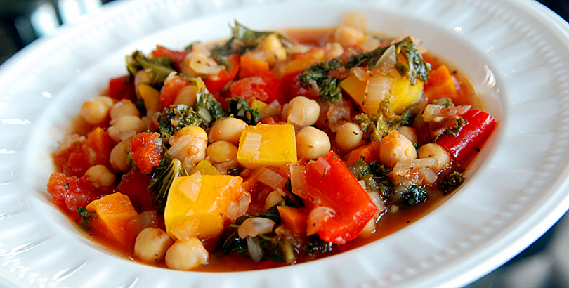 Mediterranean veg with chickpeas