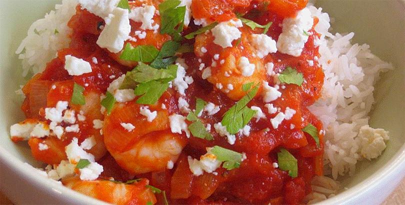 Prawns with Tomato and Feta